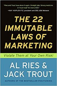 The 22 Immutable Laws of Marketing_book