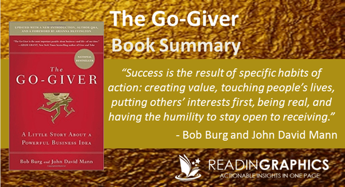 the book go giver as a The go giver is a great reminder that your success depends on how well you serve others as peter diamandis, author of bold said: if you want to become a billionaire, help a billion people read more summaries or get the book on amazon.