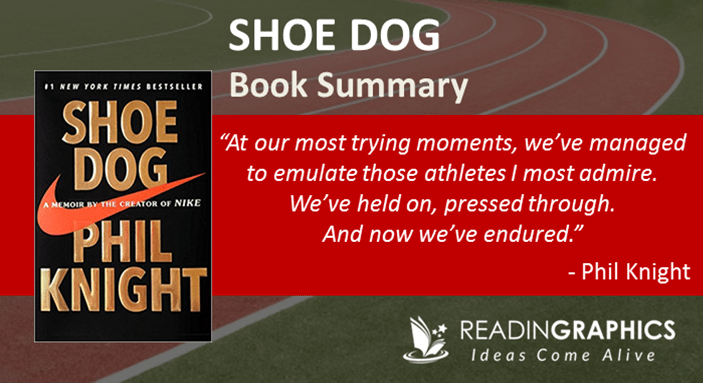 como resultado Reacondicionamiento Saturar  Book Summary - Shoe Dog: A Memoir By The Creator Of Nike